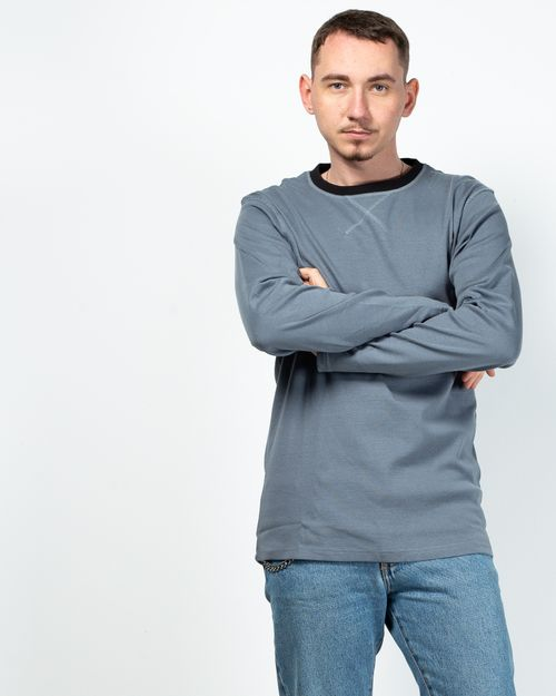 Bluza din bumbac cu maneca lunga 2100803015