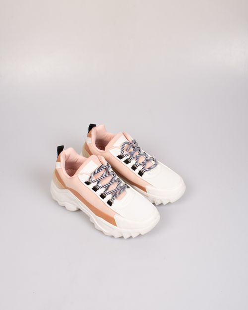 Pantofi sport cu siret si talpa inalta 2102017030
