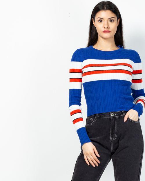 Pulover tricotat cu dungi 2102018010