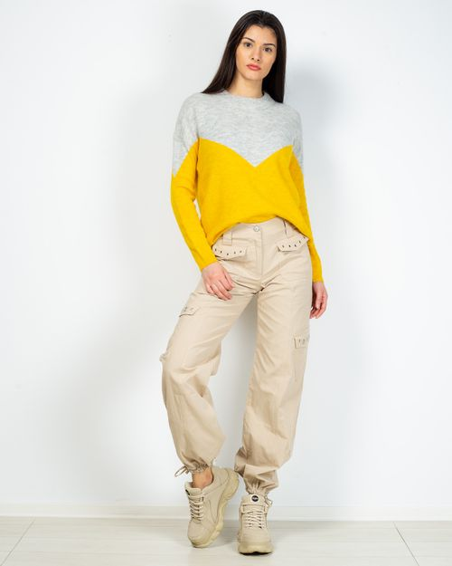 Pantaloni din bumbac cu fermoar si buzunare 2101901027