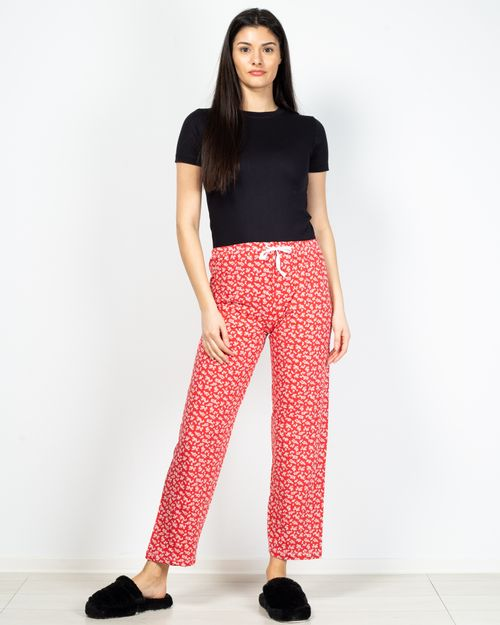 Pantaloni de pijama din bumbac cu imprimeu floral 2101002054