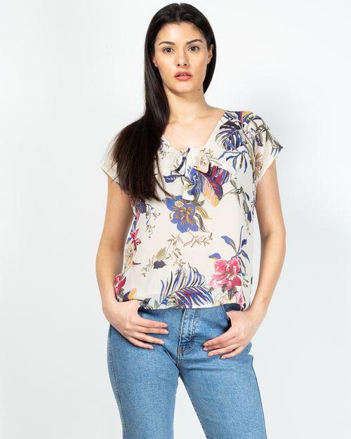 Bluza decoltata cu imprimeu floral 2101901006