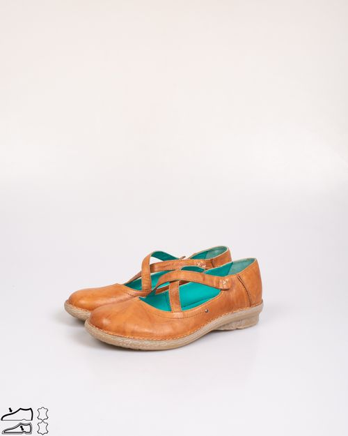 Pantofi din piele naturala cu talpa joasa 2103601204